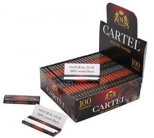 Хартийки за свиване CARTEL червени къси х 100 буклета