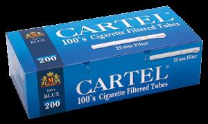 Празни цигари с филтър Cartel 100's Blue - 50 кутии