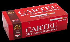 Празни цигари с филтър Cartel 100's RED  - 50 кутии