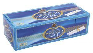 Луксозни златни цигарени гилзи Maxi Gold White 200 - 50 кутии